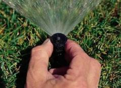 readjusting a sprinkler head