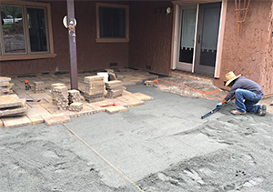 one of our pros is installing pavers